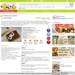 Brownie (sans gluten), Recette Ptitchef