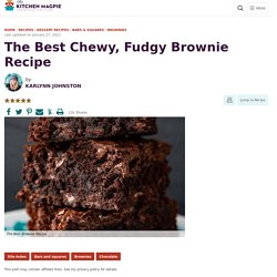 The Best Chewy, Fudgy Brownie Recipe