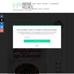 Single Serve AIP Brownie (Egg-free, nut-free, gluten-free) - Unbound Wellness