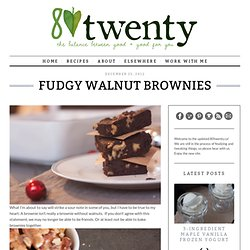 Fudgy Walnut Brownies - 80twenty