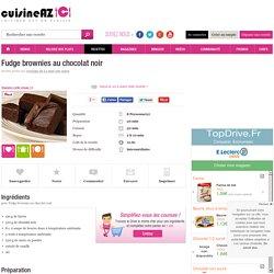 Fudge brownies au chocolat noir