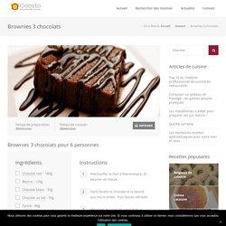 Brownies 3 chocolats - Recettes de cuisine - Goosto