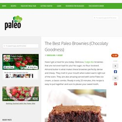 The Best Paleo Brownies (Chocolaty Goodness)