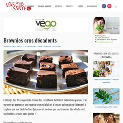 Brownies crus décadents