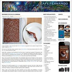 Brownies for Dolce & Gabbana : Cafe Fernando – Food Blog - brownie - dolce & gabbana - swide - Brownies