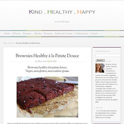 Brownies Healthy à la Patate Douce - Kind∙Healthy∙Happy