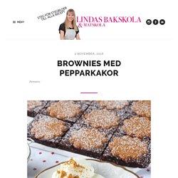 Brownies med pepparkakor