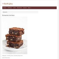 Brownies à la Noix