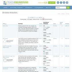 Browse Activities - www.TeachEngineering.org