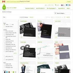 Parcourir les templates de designs de cartes de visite
