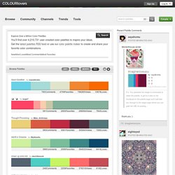 Most Loved Color Palettes (Includes Hex Codes)