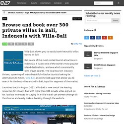 Browse and book over 300 private villas in Bali, Indonesia with Villa-Bali