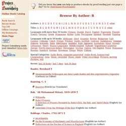 Browse By Author: B