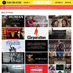 Over 500 Social Change Documentaries on 1 Page