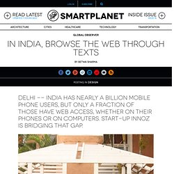 In India, browse the web through texts