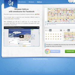 Browser Add-on with emoticons for Facebook