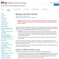 Browser and GUI Chrome
