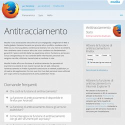 Browser web Mozilla Firefox — Antitracciamento