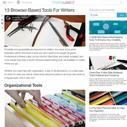 13 Browser-Based Tools For Writers