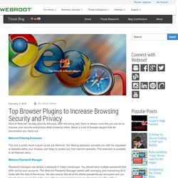 Top Browser Plugins for Browsing Security and Privacy