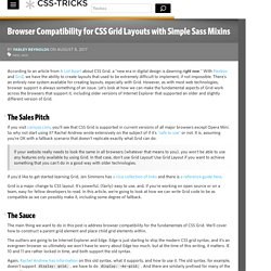 Browser Compatibility for CSS Grid Layouts with Simple Sass Mixins