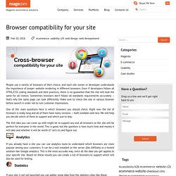 Browser compatibility for your site
