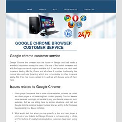 Google Chrome Browser Customer Service Number 1-888-269-0130