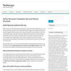 Safari Browser Customer Service 1 844 282 695 Phone Number