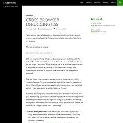 Blog Archive » Cross-Browser Debugging CSS
