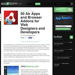 50 Air Apps and Browser Addons for Web Designers and Developers
