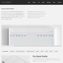 Browser sketch sheets for Web Designers