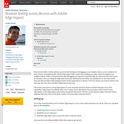 Browser testing across devices with Adobe Edge Inspect