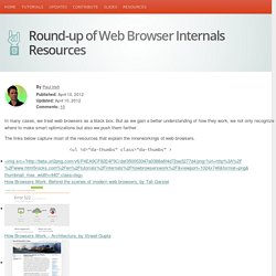 Round-up of Web Browser Internals Resources - HTML5Rocks Updates