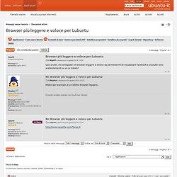 Browser più leggero e voloce per Lubuntu