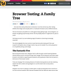Browser Testing: A Family Tree