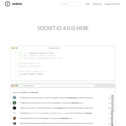 Socket.IO: the cross-browser WebSocket for realtime apps.