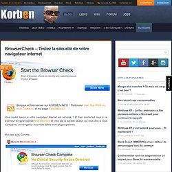 BrowserCheck – Testez la sécurité de votre navigateur internet