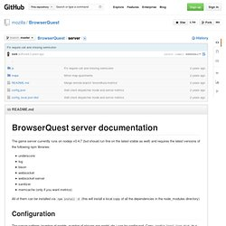 BrowserQuest/server at master · mozilla/BrowserQuest