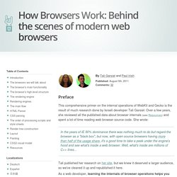 HTML5 Rocks - How Browsers Work: Behind the Scenes of Modern Web Browsers