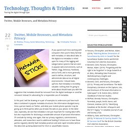Technology, Thoughts, and Trinkets» Twitter, Mobile Browsers, an