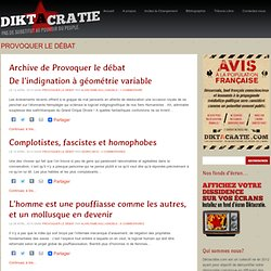 Browsing the Category Provoquer le débat