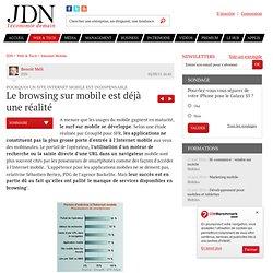 Le browsing sur mobile est déjà une réalité - Site mobile