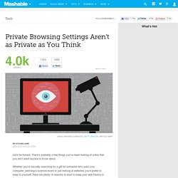 How Private Browsing Settings Actually Work