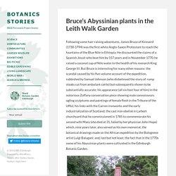 James Bruce's Abyssinian plants in Edinburgh