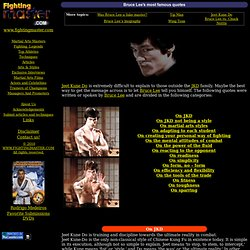 Bruce Lee's most famous quotes