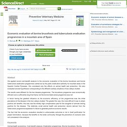 Economic evaluation of bovine brucellosis and tuberculosis eradication programmes