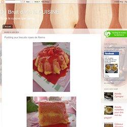 Pudding aux biscuits roses de Reims