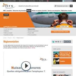 Bruit. Réglementation - Risques - INRS