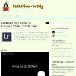 Lightroom mais encore 54 – Contraste, Clarté, Netteté, BruitOuiOuiPhoto - Blog