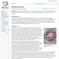 Brukman factory